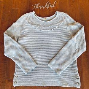 Talbots knitted grey sweater size Medium petite